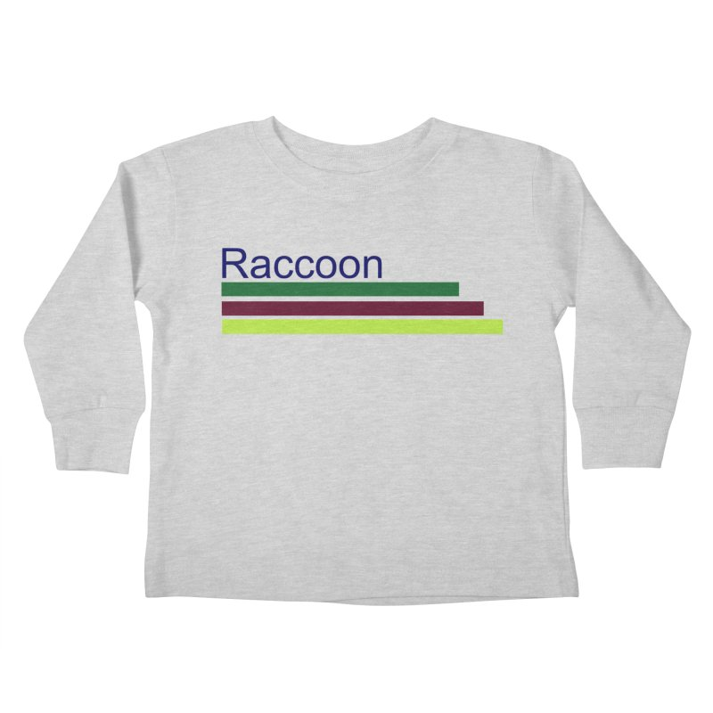 Raccoon Kids Toddler Longsleeve T-Shirt by disonia's Artist Shop