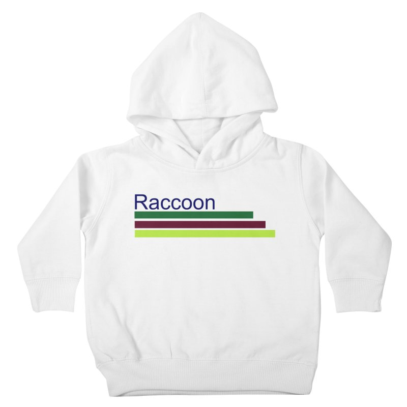 Raccoon Kids Toddler Pullover Hoody by disonia's Artist Shop