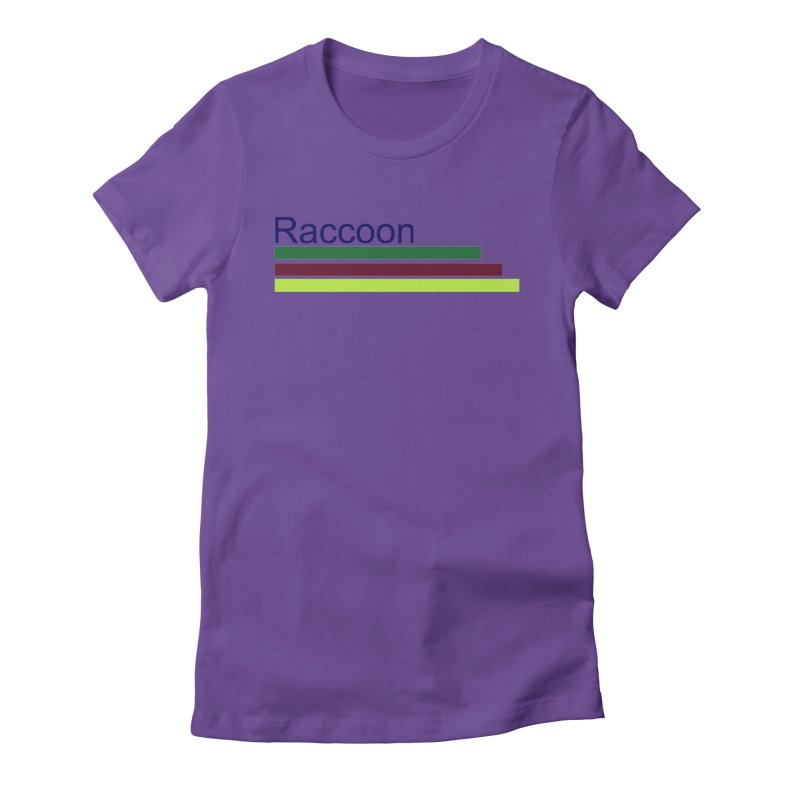 Raccoon Women's Fitted T-Shirt by disonia's Artist Shop