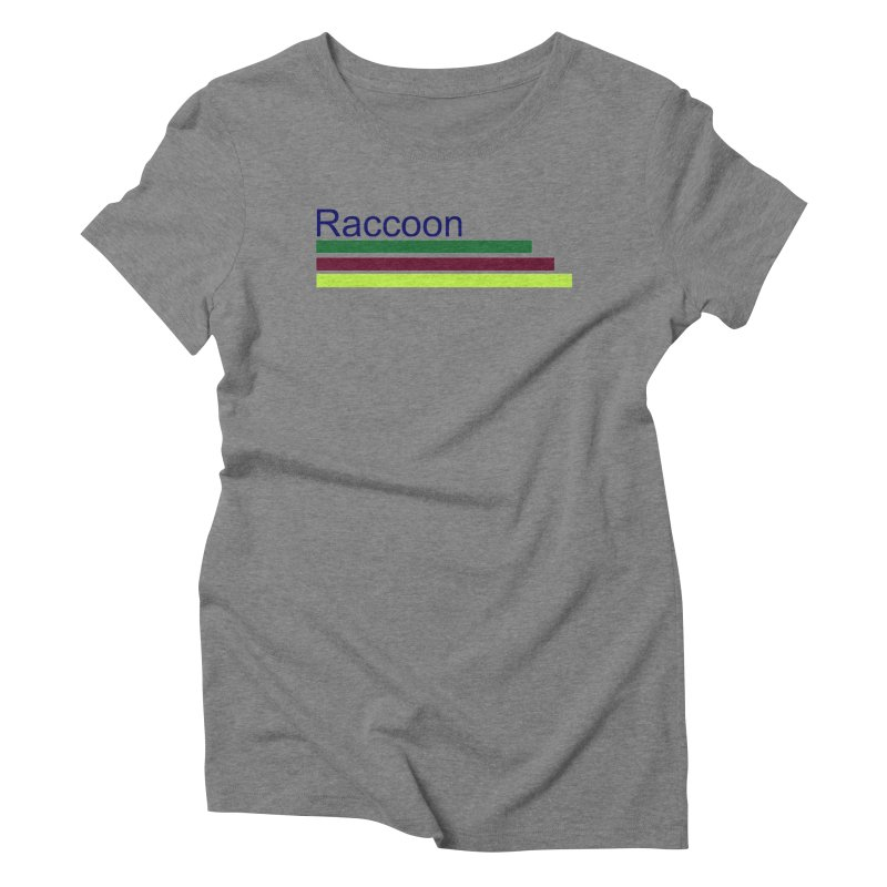 Raccoon Women's Triblend T-Shirt by disonia's Artist Shop