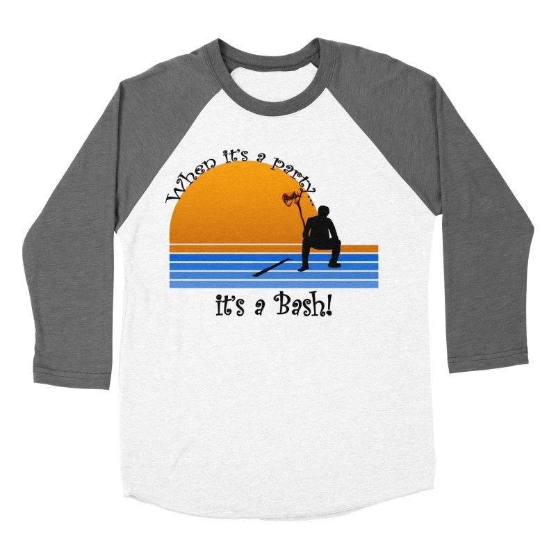 It's a Bash Women's Baseball Triblend Longsleeve T-Shirt by disonia's Artist Shop