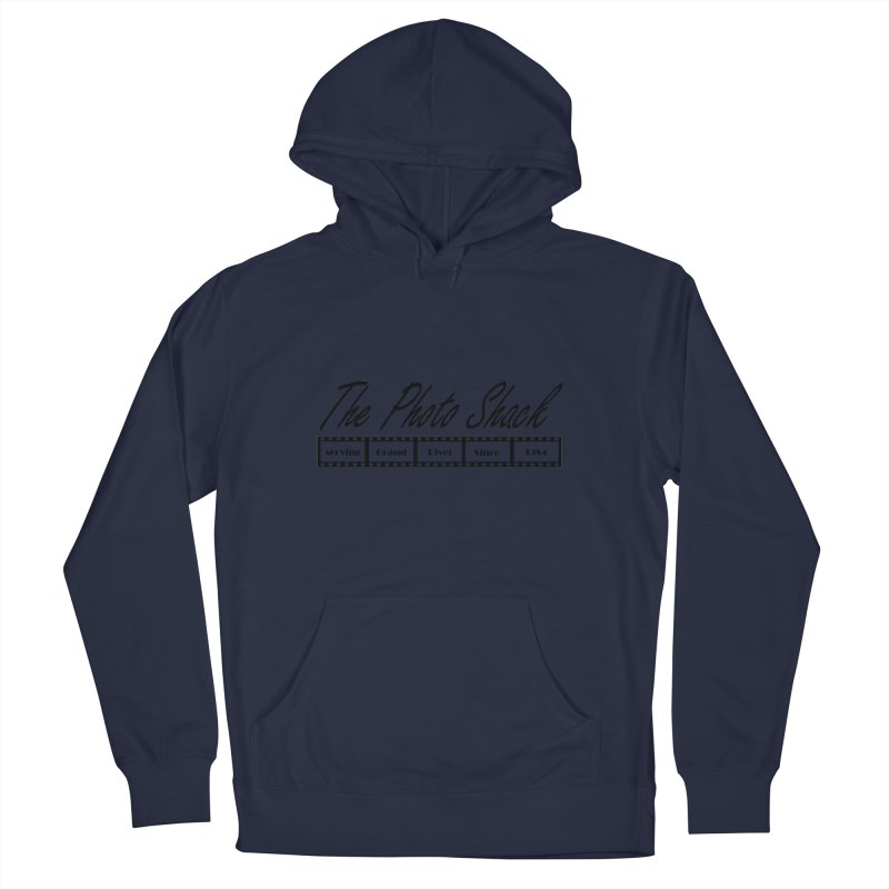 The Photo Shack Black Men's French Terry Pullover Hoody by disonia's Artist Shop