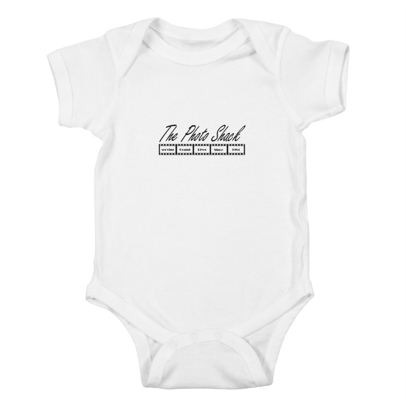The Photo Shack Black Kids Baby Bodysuit by disonia's Artist Shop