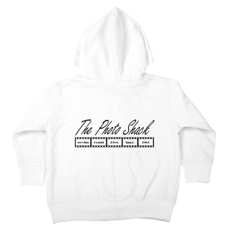 The Photo Shack Black Kids Toddler Zip-Up Hoody by disonia's Artist Shop