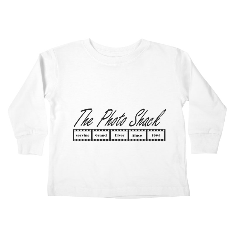 The Photo Shack Black Kids Toddler Longsleeve T-Shirt by disonia's Artist Shop