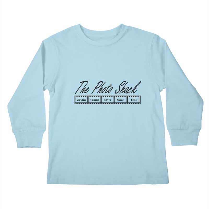 The Photo Shack Black Kids Longsleeve T-Shirt by disonia's Artist Shop