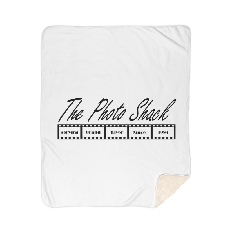 The Photo Shack Black Home Sherpa Blanket Blanket by disonia's Artist Shop