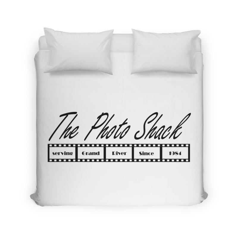 The Photo Shack Black Home Duvet by disonia's Artist Shop
