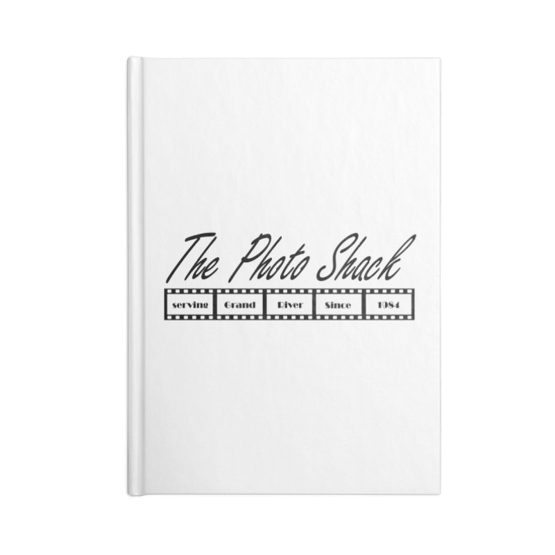 The Photo Shack Black Accessories Lined Journal Notebook by disonia's Artist Shop