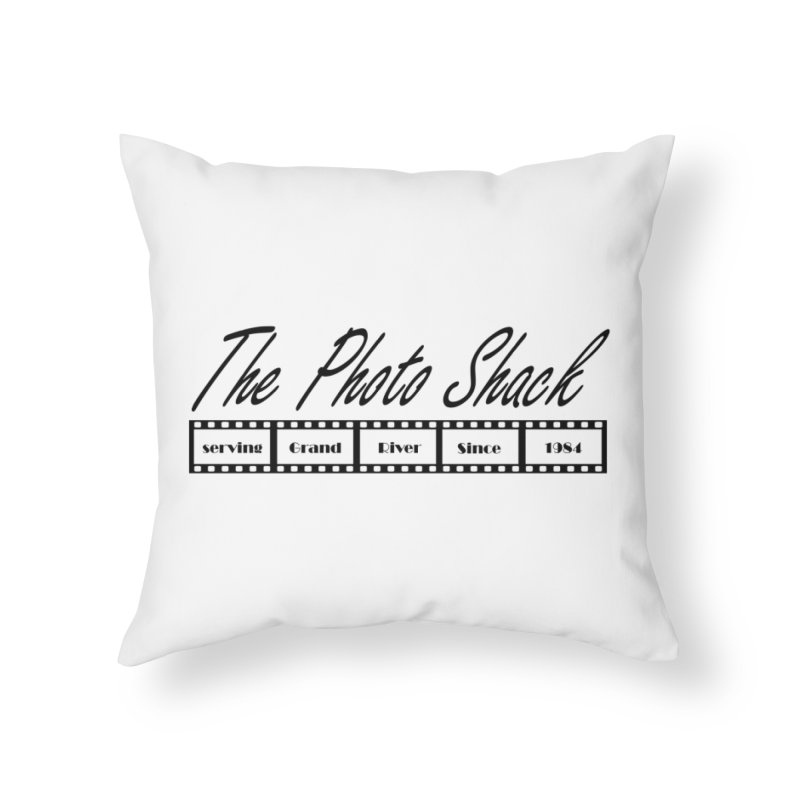 The Photo Shack Black Home Throw Pillow by disonia's Artist Shop
