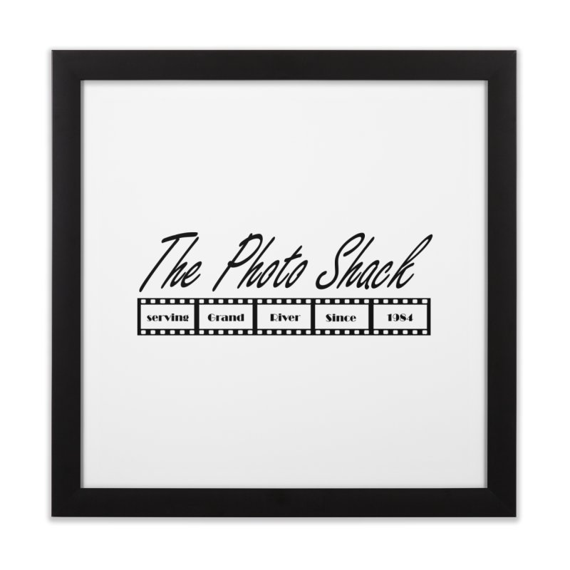 The Photo Shack Black Home Framed Fine Art Print by disonia's Artist Shop