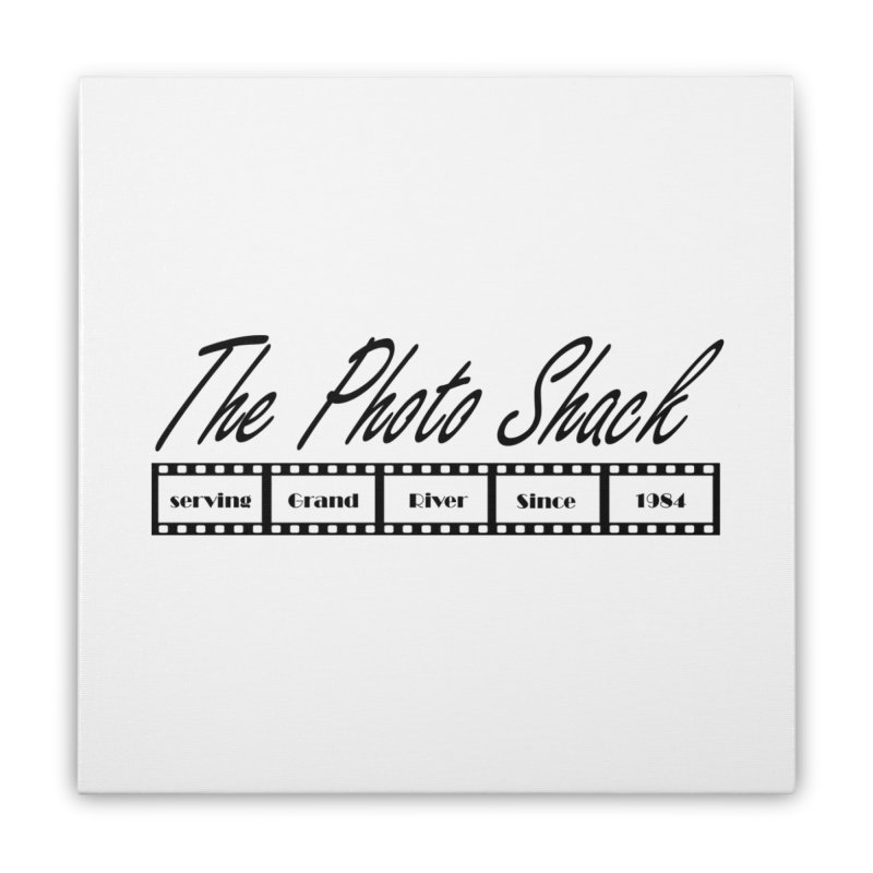 The Photo Shack Black Home Stretched Canvas by disonia's Artist Shop
