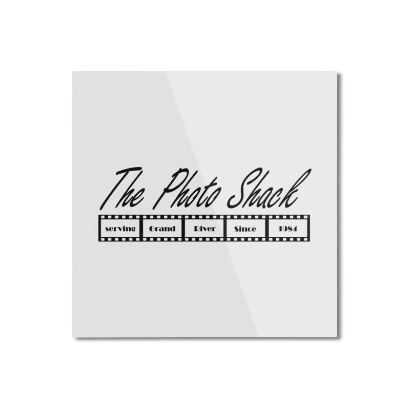 The Photo Shack Black Home Mounted Aluminum Print by disonia's Artist Shop