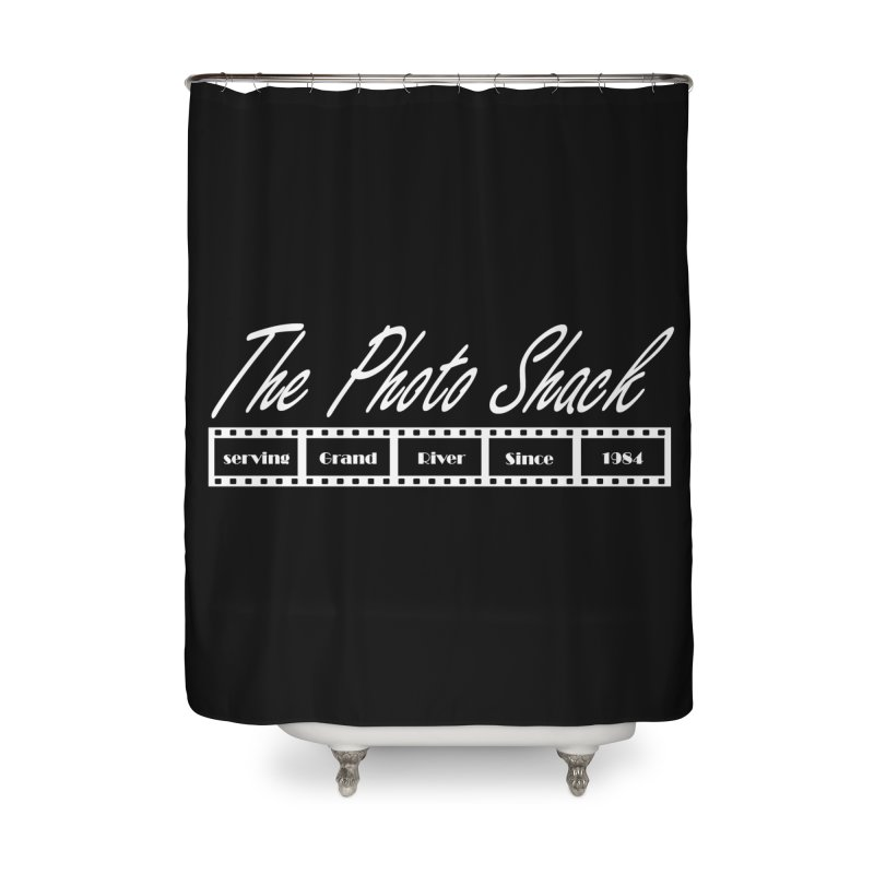 The Photo Shack - White Home Shower Curtain by disonia's Artist Shop