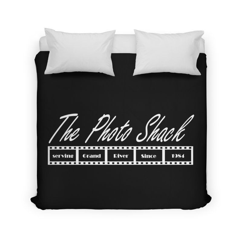 The Photo Shack - White Home Duvet by disonia's Artist Shop