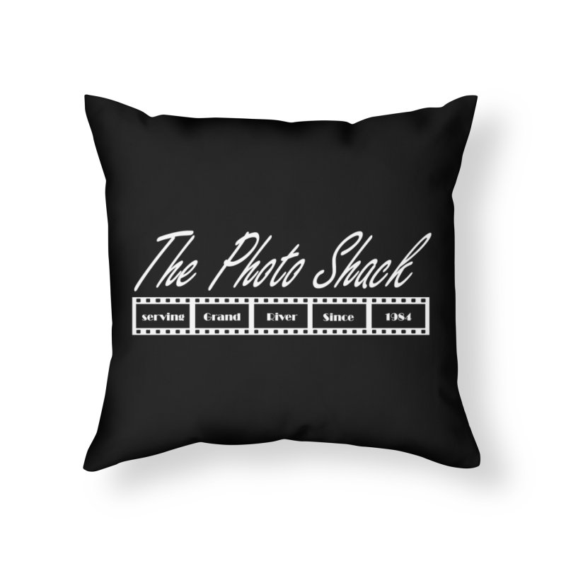 The Photo Shack - White Home Throw Pillow by disonia's Artist Shop