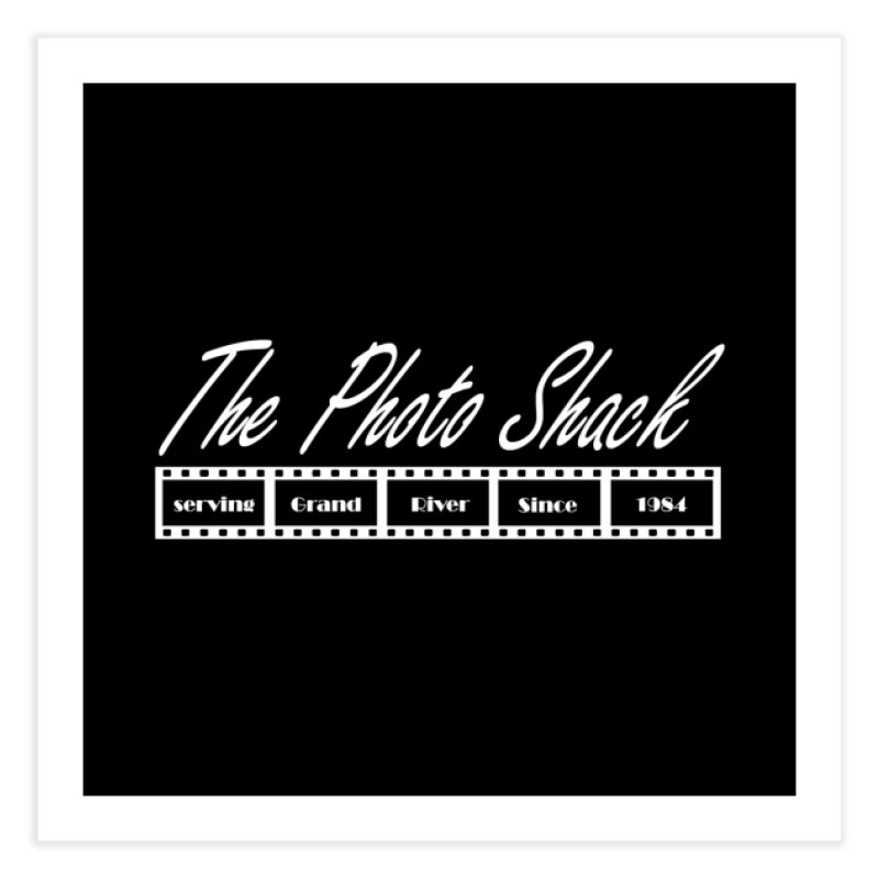 The Photo Shack - White Home Fine Art Print by disonia's Artist Shop