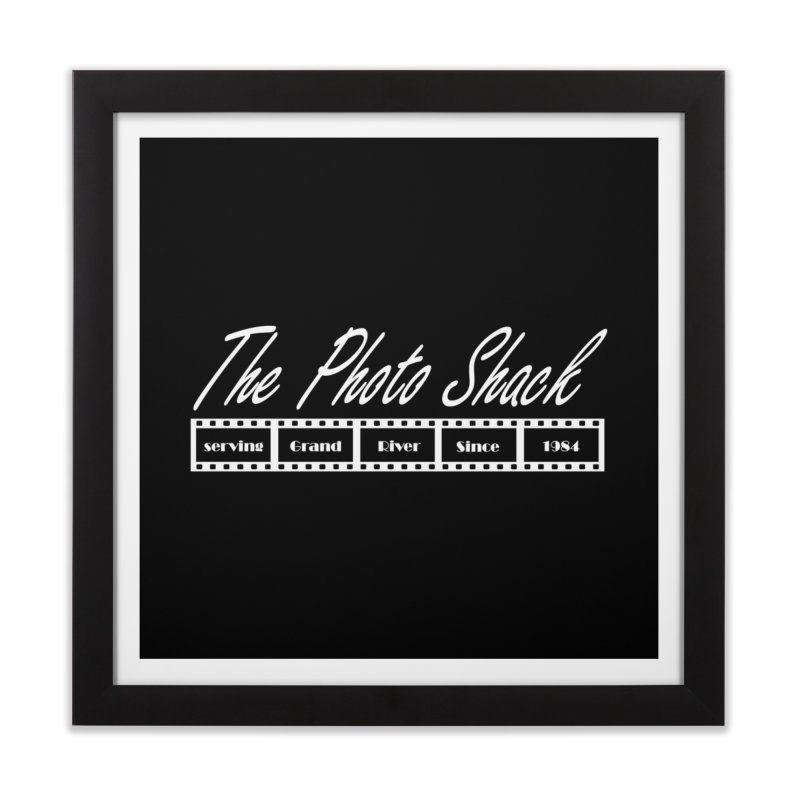 The Photo Shack - White Home Framed Fine Art Print by disonia's Artist Shop