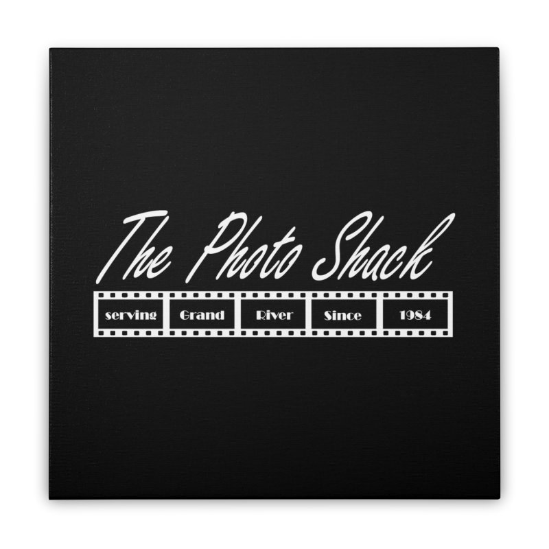 The Photo Shack - White Home Stretched Canvas by disonia's Artist Shop