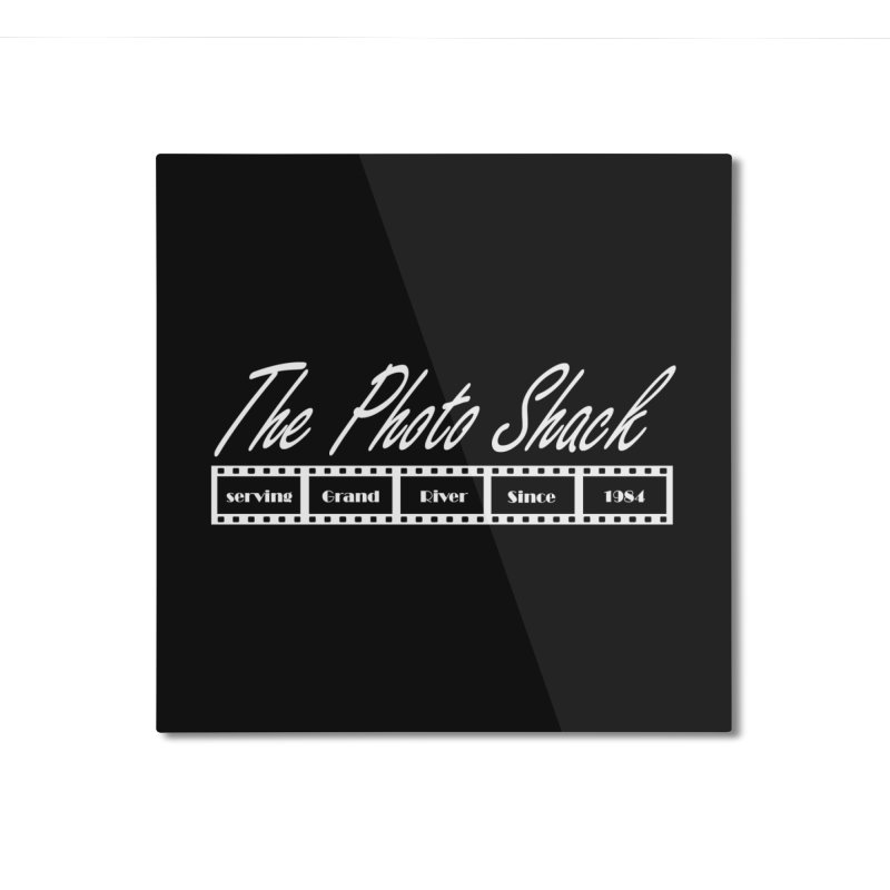 The Photo Shack - White Home Mounted Aluminum Print by disonia's Artist Shop