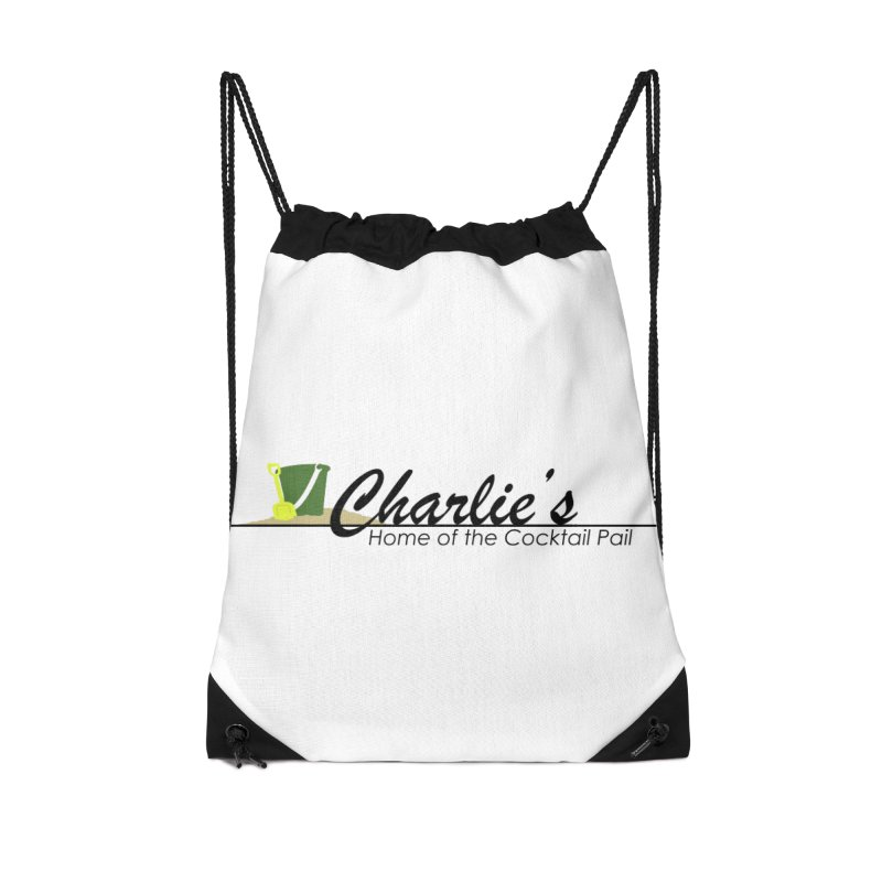 Charlie's Accessories Drawstring Bag Bag by disonia's Artist Shop