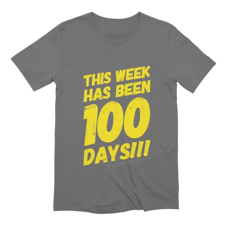 100 Days Men's T-Shirt by Disposable Bits's Shop