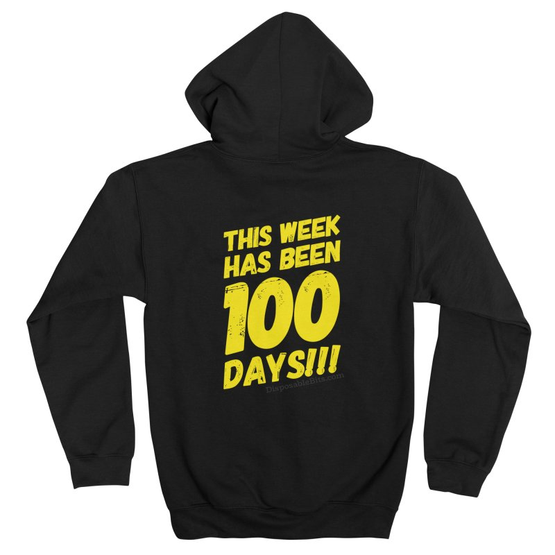 100 Days Men's Zip-Up Hoody by Disposable Bits's Shop