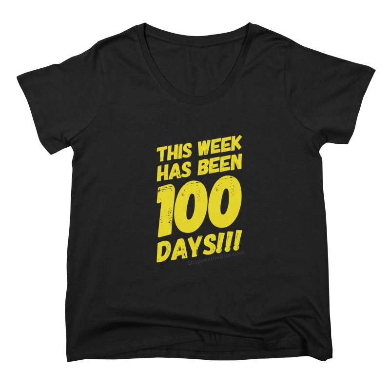100 Days Women's Scoop Neck by Disposable Bits's Shop