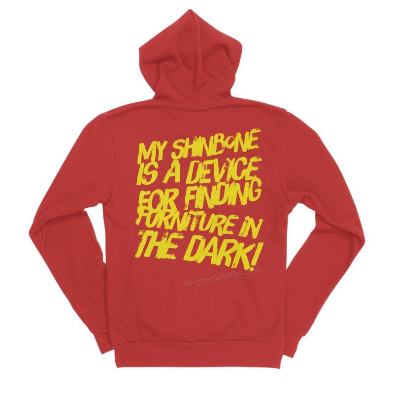 Shinbone Pain (Shout) Women's Zip-Up Hoody by Disposable Bits's Shop