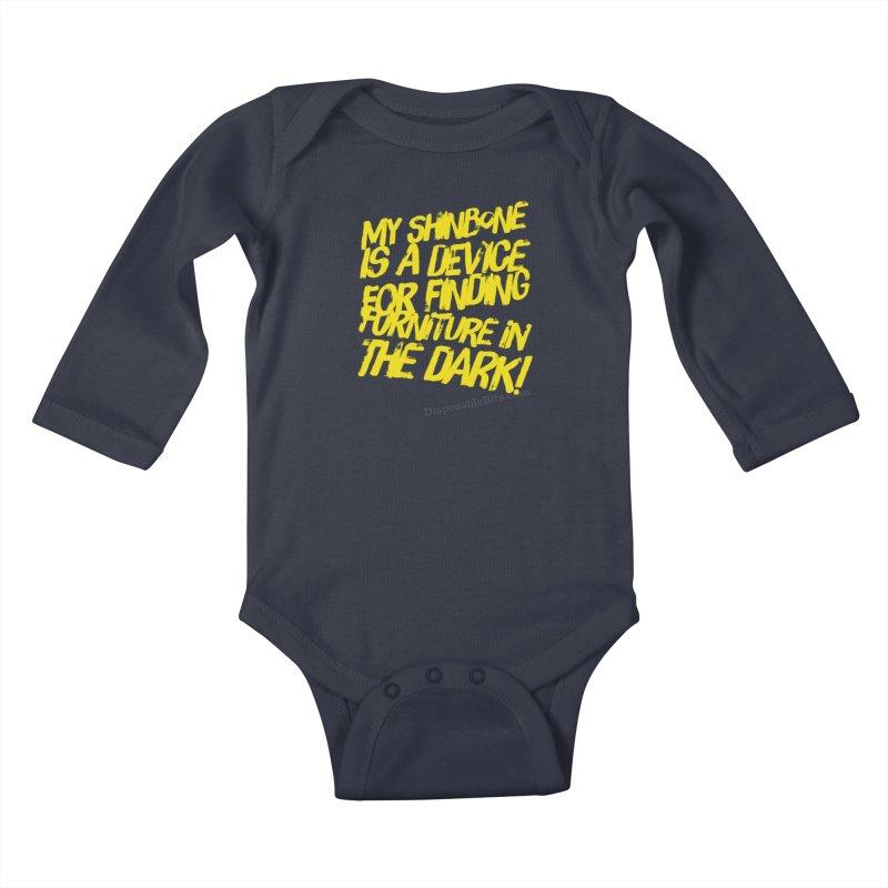Shinbone Pain (Shout) Kids Baby Longsleeve Bodysuit by Disposable Bits's Shop