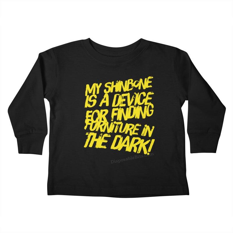 Shinbone Pain (Shout) Kids Toddler Longsleeve T-Shirt by Disposable Bits's Shop