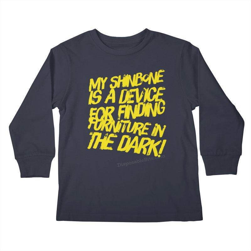 Shinbone Pain (Shout) Kids Longsleeve T-Shirt by Disposable Bits's Shop