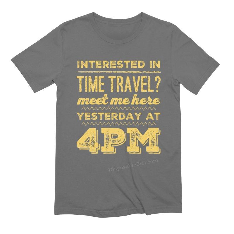 Time Travel Men's T-Shirt by Disposable Bits's Shop