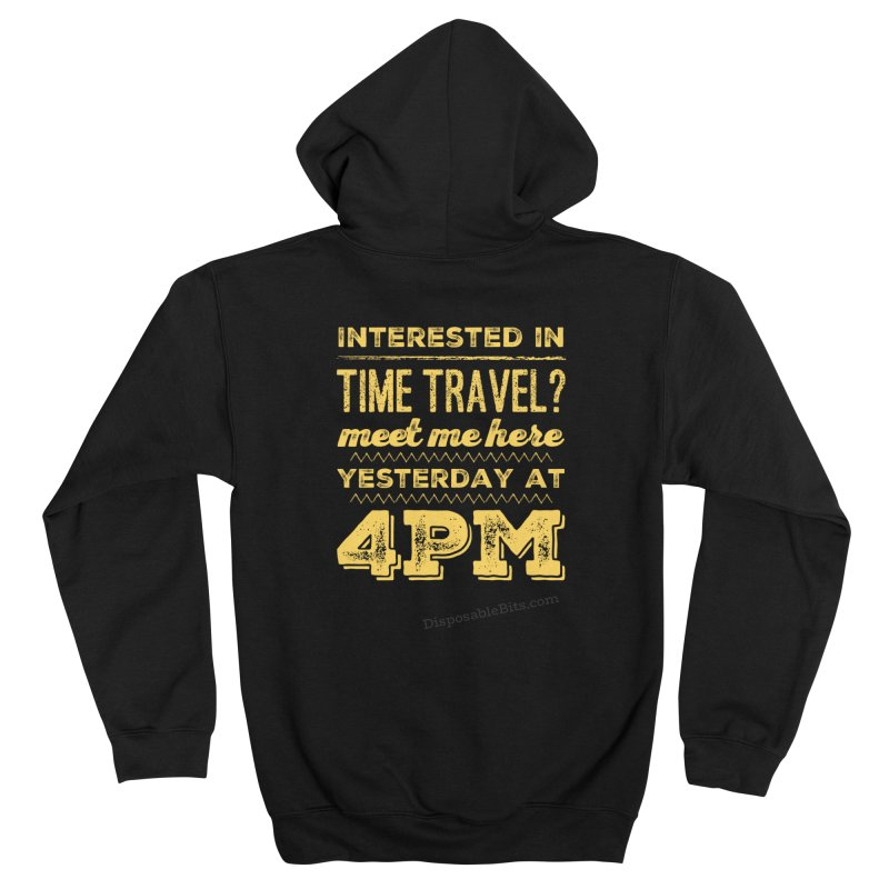 Time Travel Men's Zip-Up Hoody by Disposable Bits's Shop