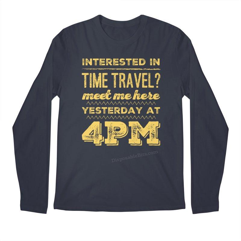 Time Travel Men's Longsleeve T-Shirt by Disposable Bits's Shop