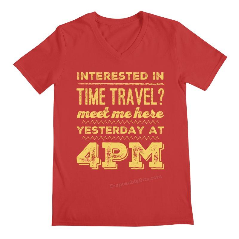 Time Travel Men's V-Neck by Disposable Bits's Shop