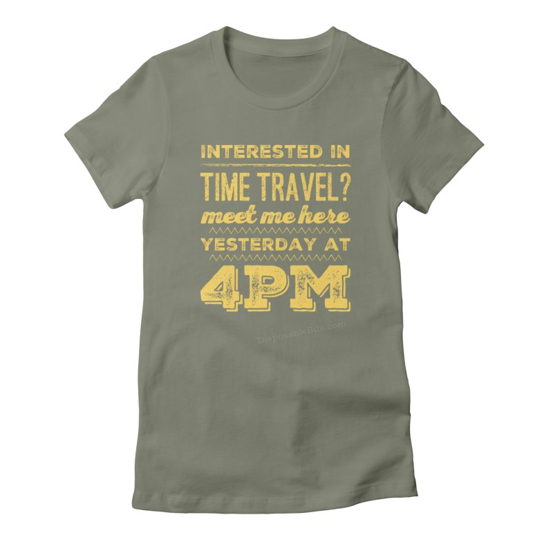 Time Travel Women's T-Shirt by Disposable Bits's Shop