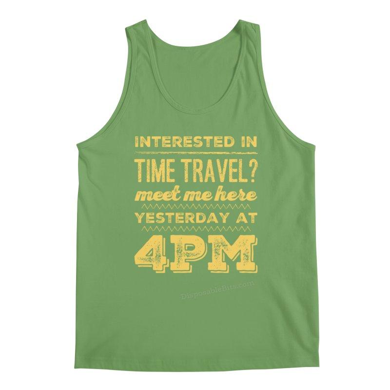 Time Travel Men's Tank by Disposable Bits's Shop