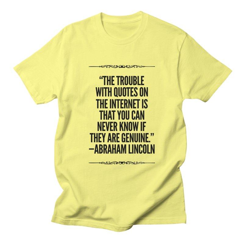 Lincoln's Internet Women's T-Shirt by Disposable Bits's Shop