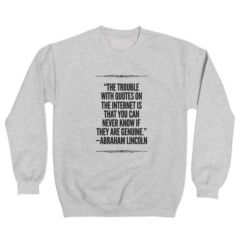 Lincoln's Internet Men's Sweatshirt by Disposable Bits's Shop