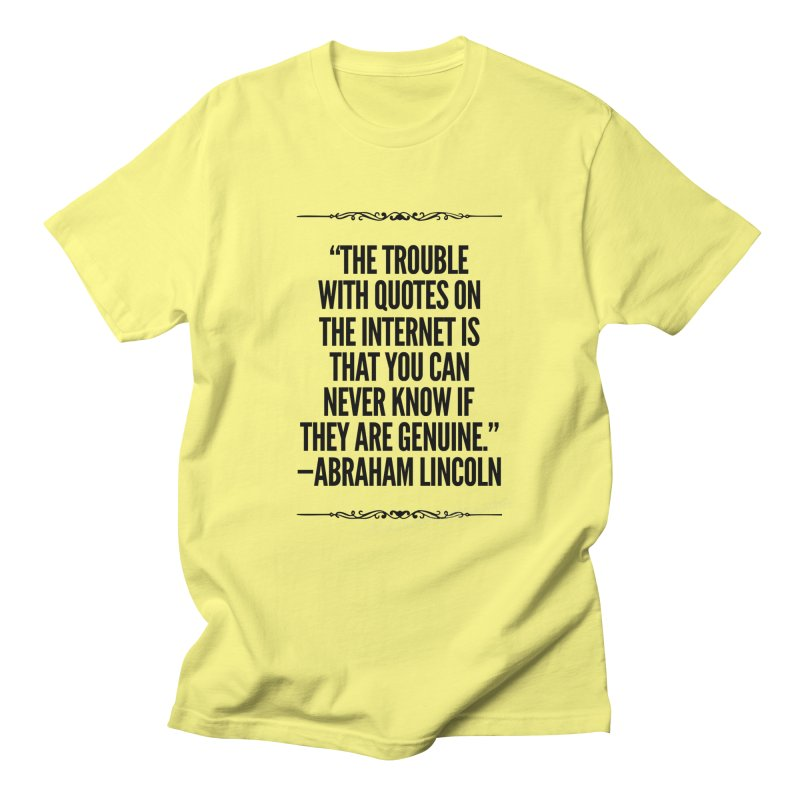 Lincoln's Internet Men's T-Shirt by Disposable Bits's Shop