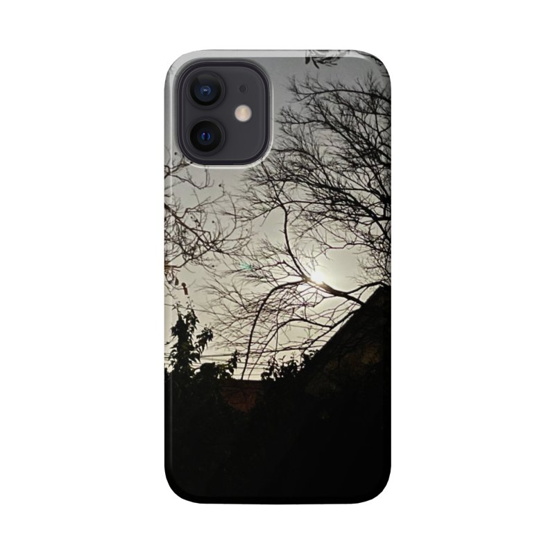 Moon through trees Accessories Phone Case by Disposable Bits's Shop