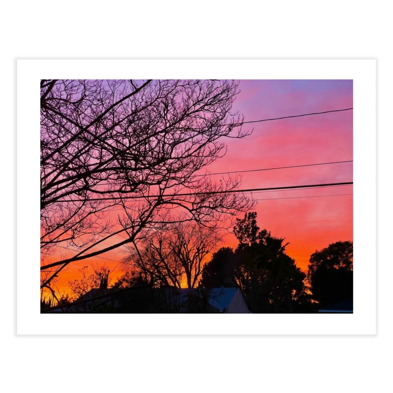 Sunset through trees Home Fine Art Print by Disposable Bits's Shop