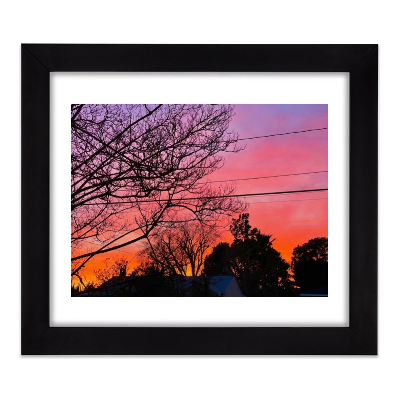 Sunset through trees Home Framed Fine Art Print by Disposable Bits's Shop