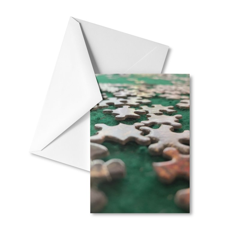 Puzzle Accessories Greeting Card by Disposable Bits's Shop