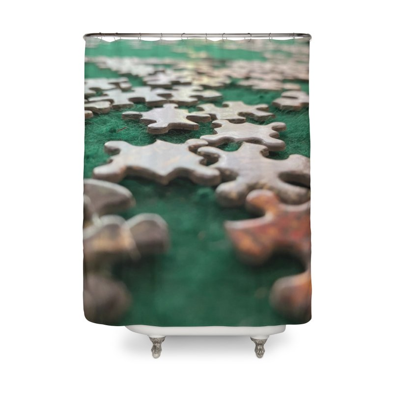 Puzzle Home Shower Curtain by Disposable Bits's Shop