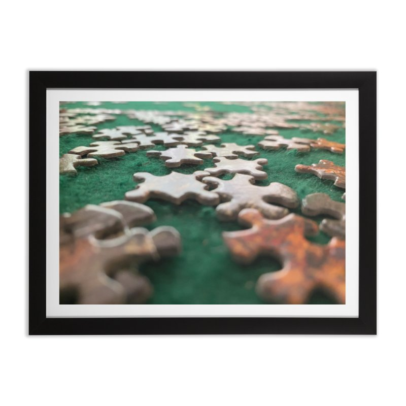 Puzzle Home Framed Fine Art Print by Disposable Bits's Shop