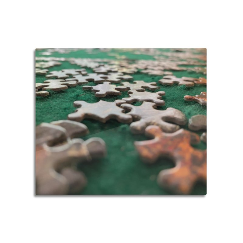 Puzzle Home Mounted Aluminum Print by Disposable Bits's Shop
