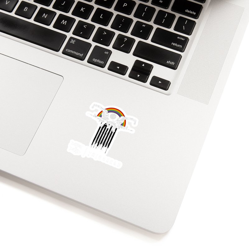 Triggered Accessories Sticker by disturbthedead's Artist Shop