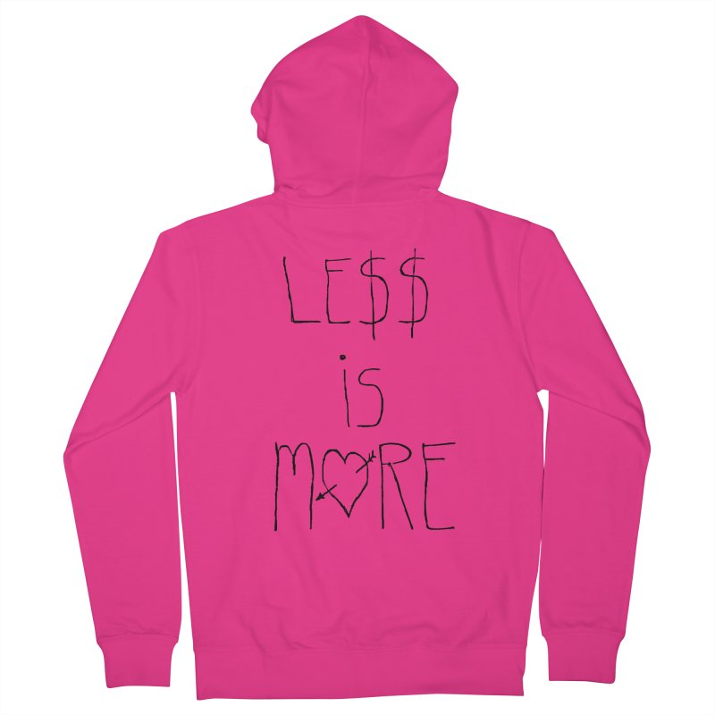 Le$$ is More Men's Zip-Up Hoody by divinedesign's Artist Shop